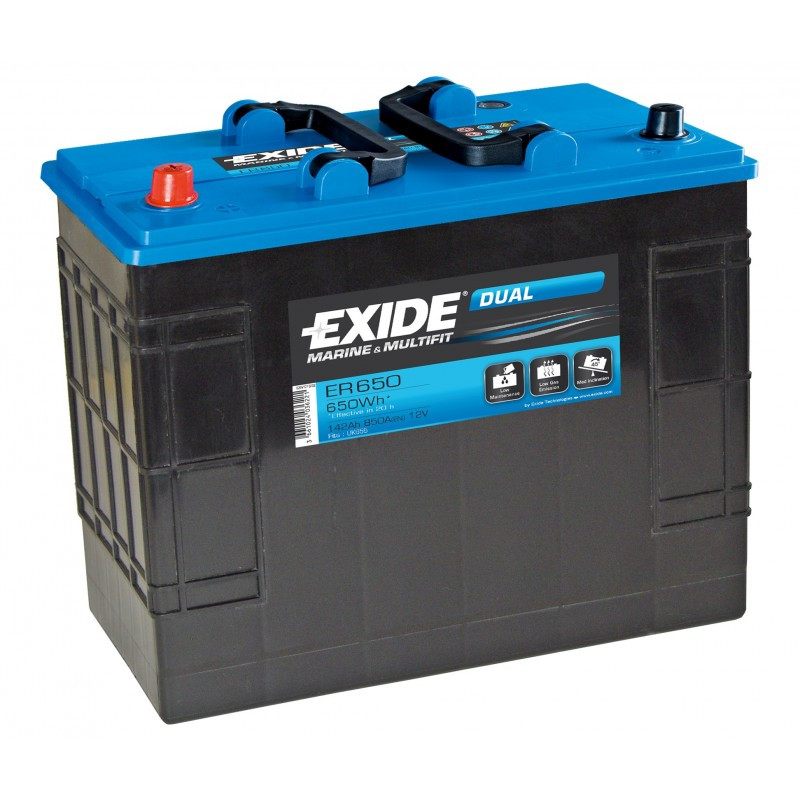 exide marine equipement es1000 6 d charge lente gel 12v 195ah volt o. Black Bedroom Furniture Sets. Home Design Ideas
