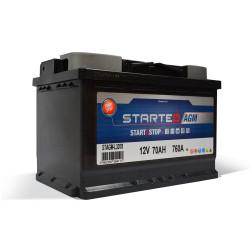 BATTERIE STARTEO AGM STAGM-L3D70 DEMARRAGE 12V 70AH 760A