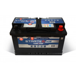 BATTERIE STARTEO AGM STAGM-L4D80 DEMARRAGE 12V 80AH 800A