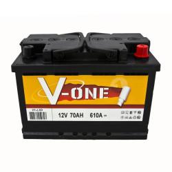 BATTERIE V-ONE V1-L3D70 DEMARRAGE 12V 70AH 610A