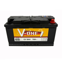 BATTERIE V-ONE V1-L5D90 DEMARRAGE 12V 90AH 750A