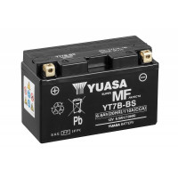 BATTERIE YUASA MOTO YT7B-4 / YT7B-BS SANS ENTRETIEN 12V 6.5AH
