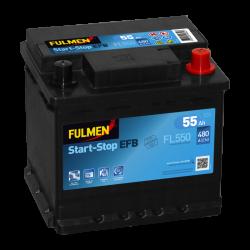 BATTERIE FULMEN START/STOP EFB FL550 12V 55AH 480A