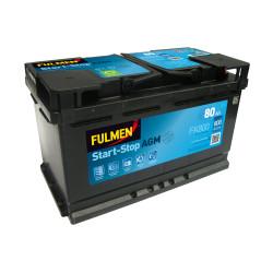 BATTERIE FULMEN START/STOP AGM FK800 12V 80AH 800A