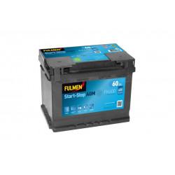 BATTERIE FULMEN START/STOP AGM FK600 12V 60AH 680A