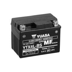 BATTERIE YUASA MOTO YTX4L-BS SANS ENTRETIEN 12V 3AH
