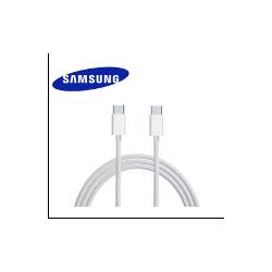 CABLE SAMSUNG USBC VERS USBC POUR NOTE 10 BLANC - ORIGINE