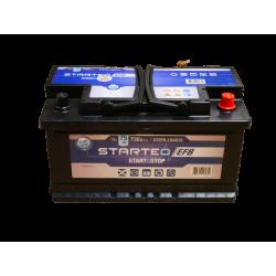 BATTERIE STARTEO EFB STEFB-LB4D75 DEMARRAGE 12V 75AH 730A